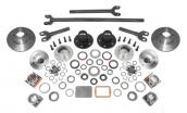 D30 MANUAL LOCKING HUB COMPLETE CONVERSION KIT, INCLUDES ALLOY USA INNER AXLE SHAFTS, JEEP WRANGLER (YJ) 87-95 ELIMINATES DISCONECTS, (TJ) 97-06, CHEROKEE (XJ) 84-01